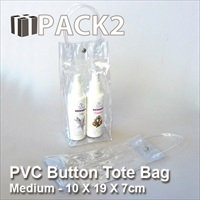 PVC Button Tote (M) - 10 X 19 X 7cm - 10Pcs